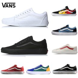 72f0e03395fdbb chaussures toms Promotion Original Vans Old Skool Hommes Femmes Casual chaussures  De Course Chaussures Yacht Club