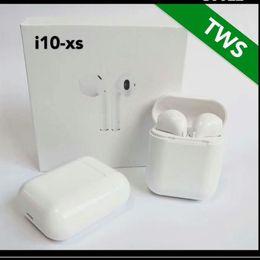 2019 casque super basse I10-XS Air Pods TWS Sans fil Bluetooth Écouteurs Écouteurs Super Bass Casques Stéréo Écouteurs avec Micro pour IPhone Xiaomi Huawei Samsung casque super basse pas cher