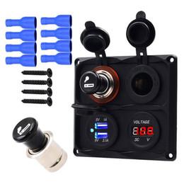 LED Göstergesi ile araba Çift USB Şarj Adaptörü Dijital Voltmetre Çakmak Soket Puro Çakmak 12 V Motobike ATV nereden gopro için led ışık tedarikçiler