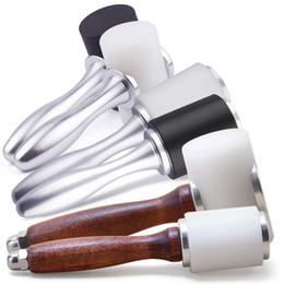 2019 arte do martelo Ferramentas de couro Handmade Madeira / Metal Alumínio Handle Nylon Martelo Art Printing DIY Psoríase Instalação Ferramenta Rodada ferramenta Roda arte do martelo barato