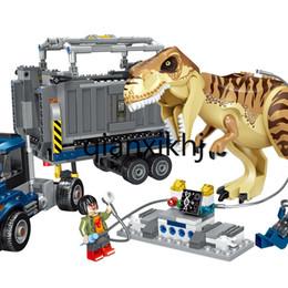 2019 puzzle di orologio in legno 39116 Tyrannosaurus Rex Transporter dinosauro di Jurassic assemblato Building Blocks giocattoli in anticipo di infanzia