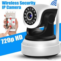 2019 costruire la rete wireless Telecamera HD IP WiFi Telecamera wireless di sicurezza domestica 720p Telecamera per visione notturna Wi-Fi IP p2P Dotata di supporto