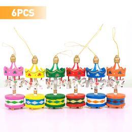 acabar brinquedo de música Desconto Carrossel rotativo Caixa de Música Cavalo Kid Musical Wind Up Clockwork Toy Crianças Presente de Natal Feliz Rodada Casa Pendurado Decoração