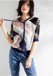 xl ladies short sleeve hoodie Desconto Harajuku Camisola De Seda Das Mulheres Hoodies Pulôver Outerwear Ocasional Das Mulheres Chapéu Das Senhoras Tops de Verão Roupas de Manga Curta