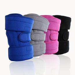 Canada Genouillère de 2 PC avec support de plaque en métal Protection du genou de sécurité sportive professionnelle Protège-genoux Protège-courroie Offre