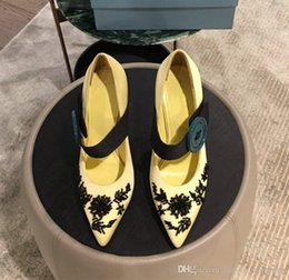 Canada Chaussures de luxe pour femmes au début du printemps Tous les tissus importés avec ornement en perles Des talons sophistiqués pour une tenue d'affaires glamour Offre