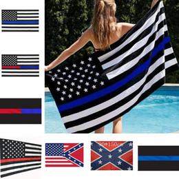 Latão dos eua on-line-Blue Line USA Flags 3 por 5 Flag US Pé Thin Red Line Black White e da listra azul da bandeira americana com latão Grommets I033