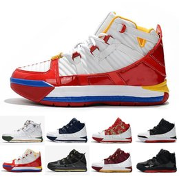 da0c59041403 New Arrival  23 Lebron Zoom III 3 Home SuperBron Mens Basketball Shoes High  quality White Blue Red Black James 3s Sports Sneakers US7-12