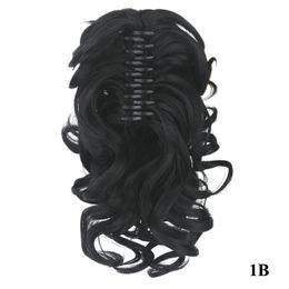 2019 mittlere braune haare brötchen Hochwertige synthetische Clip Pferdeschwanz Haarverlängerung Bodyware Pferdeschwanz 16 Zoll Haarverlängerungen Pferdeschwanz mit Clip