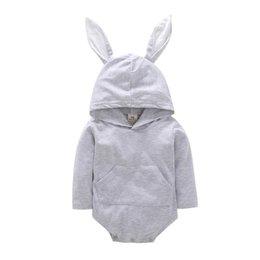4 stücke Personalisierte Neue Ankunft Baby Mit Kapuze Bunny Ohr Spielanzug Mit Kapuze Bunny Ohr Baby Girl Boy Strampler Neugeborenes Baby Mädchen Designer Kleidung von Fabrikanten
