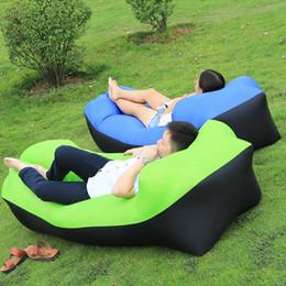 2020 borsa pigra all'aperto 10 secondi Apertura rapida Lazy bag Air Sofa veloce Sleeping gonfiabile divano Lazy Bag Letto Letto pieghevole Beach sedia di campeggio esterna borsa pigra all'aperto economici