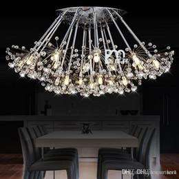 2019 lumières de l'église vintage K9 Pendentif En Cristal Lumière 1 6 12 13 15 17 19 19 leds tête Creative Pissenlit LED Lustres En Cristal droplight Moderne Minimaliste Room Lights