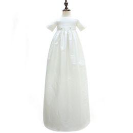 3 à 12 mois bébé filles longues robes de baptême, chapeau, vêtements d'été en euro en coton, vêtements blancs pour enfants, 4 AM710DS-19 ? partir de fabricateur