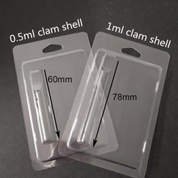bobina de mini calentador Rebajas Empaquetado al por menor plástico Clamshell concha de almeja envases de plástico de 1,0 ml de aceite de Vape cartuchos 92A3 G2 th205 vapor de embalaje 510 Cesta de embalaje