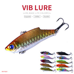 Señuelos de vibración online-HENGJIA 10 Unids / lote Vibración señuelo de la pesca Cebo 5.5 cm 7.5g Wobbler Cebo de Pesca Cebo Artificial Pesca Pesca