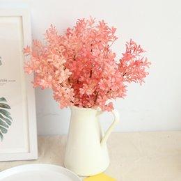 2019 mazzo di rose rosa fiori Simulazione Fiore Melone Rosa Erba Mazzo Decorazione della casa Matrimonio Azienda Fiore Pianta da parete Parete Bruiloft Bloem Bos Fai da te sconti mazzo di rose rosa fiori