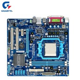 2019 placa base 1155 zócalo Placa base Gigabyte GA-M68M-S2P DDR2 Socket de 8 GB AM2 / AM2 + / AM3 M68M S2P Systemboard de placa base de escritorio Gráficos integrados utilizados