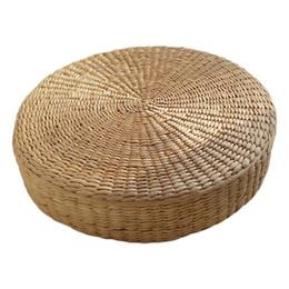 2020 cuscini di posti a sedere VENDITA CALDA 40 cm Tatami Cuscino Rotondo Tessuto di Paglia Handmade Cuscino Piano Yoga Sedia Tappetino sconti cuscini di posti a sedere