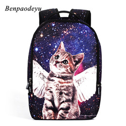 980d755af3d5 Fashion Backpack School Bags for Teenage Girls Boys Travel Shoulder Backpack  Cartoon Print Cat Rucksack Laptop Colorful
