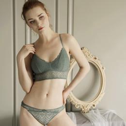 Schlauchbecher frei online-Wriufred Sexy Lace Bralette Unterwäsche Set Large Size Dessous für Damen Wire Free Triangle Cup BH Sets New Tube Top Bras