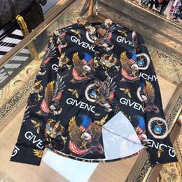 2020 nuova camicia di vernice Nuovo arrivo nel 2019: camicia modello moda uomo, manica lunga, vernice, stampa a colori, dimagrante camicia casuale degli uomini, shirtJ21 cerimonia uomo sconti nuova camicia di vernice