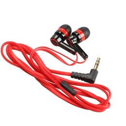 Canada Rouge Plat 3.5mm Aux Filaire Écouteur Écouteur Dans L'oreille Écouteurs Casque Universel pour Téléphones Portables Ordinateurs MP3 MP4 Lecteur de CD Offre