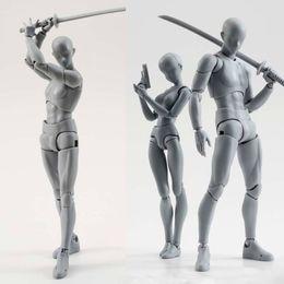 2019 figurines féminines 14 cm artiste Art peinture Anime figure SHF Croquis Dessiner Mâle Féminin Corps mobile articulation Action Figure Jouet modèle dessiner Mannequin promotion figurines féminines