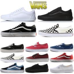 sapatos de borracha para mulheres china Desconto vans 2020 temor de Deus skool velho tênis para homens mulheres triple branco lona preta Hot Sale Homens Desportos Sapatilhas Casual Shoes 36-44