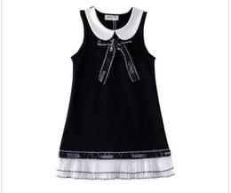 Vestido de novia de organza niña online-vestido de marca de primavera niñas de lujo organza chaleco vestido princesa vestido de novia hermoso 90 cm --- 130 cm envío gratis