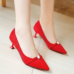 2019 appartements nuptiaux roses bout pointu Nouveaux talons hauts chaussures de mariée chaussures habillées chaussures de mariage femmes Chaussures de fête
