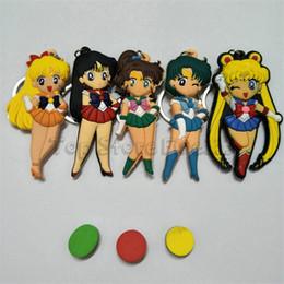 Portachiavi della luna online-Sailormoon Cute Sailor Moon Figure Giocattoli Anime Sailormoon Cat Modello Portachiavi Ciondolo Cosplay Portachiavi Cartoon Portachiavi Giocattolo Regalo Dei Capretti