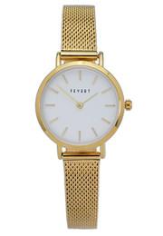 FEYERT Trendy Dama de oficina de moda para mujer, caja de oro, malla de acero inoxidable, correa de cadena, reloj de pulsera FE-0001 desde fabricantes