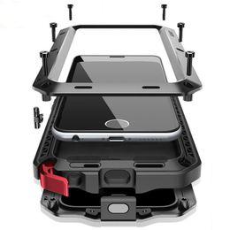 Funda de metal galaxy note edge online-Funda de metal Cubierta resistente de la caja 360 para Samsung Galaxy S5 S6 S6 S7 borde S9 S8 Plus Note 9 8 Cubierta a prueba de golpes