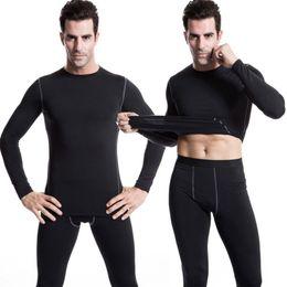длинное тело t рубашки мужчины Скидка Men Warm Winter Long Sleeve Quick Dry t-shirt Men Sport Gym Fitness Thermal Tight Body Fit Underwear Basic Tops T-Shirt ST