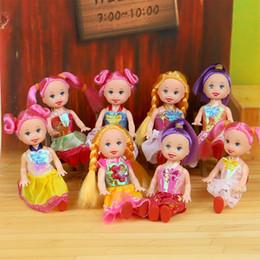 Mini juguetes para niñas online-Al por mayor-Little Kelly Bark Princesa Kelly Kelly Doll Girl Toy Regalos 4 pulgadas Barbie Toy Set Doll4