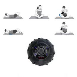 triggerpunkt massagebälle Rabatt Elektrische Massage Roller Fitness Ball zu entlasten Trigger Point Training Faszien Yoga Vibrationsmassage Ball Lokale Muskelentspannung