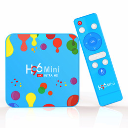 2019 suportes de tv 4GB 128GB H96 mini-Android 9.0 Smart TV Box Allwinner H6 Quad Core 4GB 64GB Suporte 6K H.265 Set top Box desconto suportes de tv
