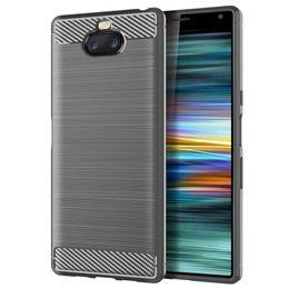 2019 xperia ultra 1.5 мм текстуры из углеродного волокна тонкая броня матовый ТПУ чехол для Sony Xperia 10 10 PLUS Z4 PLAY XA3 Ultra XA2 PLUS 300 шт. / Лот