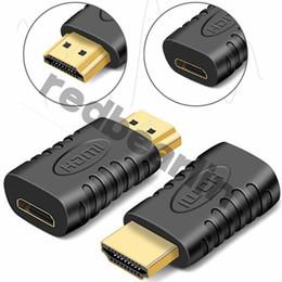 Convertisseurs hdmi en Ligne-Mini HDMI Adaptateur Femme vers Adaptateur Mâle HDMI pour Adaptateur HDTV 1080P