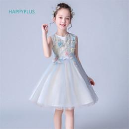 2319664c45b72 HAPPYPLUS Robes de Fille de Fleur pour la Fête de Mariage Anniversaire Fête Robe  Enfants Robes de Soirée pour Enfants 4 5 6 7 8 9 10 11 12 Ans peu coûteux  ...