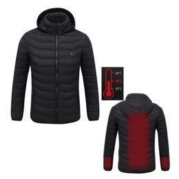 Travail électronique en Ligne-Veste chauffante pour homme, 2 couleurs, électronique, hiver chauffée par USB, veste de travail à capuche, manteaux, contrôle de la température réglable