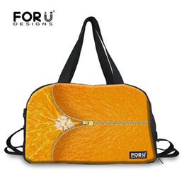 Borsa a tracolla arancione online-Borse FORUDESIGNS Frutta Arancia di stampa di grande sport Sacchetto degli uomini donne palestra con scarpe da Borsa fitness portatile a tracolla la borsa unisex