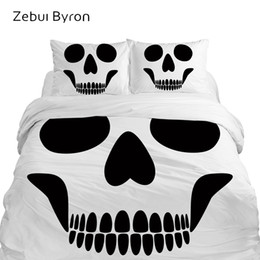 3d quilts covers king size Coupons - 3D Duvet Cover Set,Luxury Bedding Set King Queen Double Eruo USA Custom Size,Blanket Quilt Cover Set,Halloween Skull Bed Set