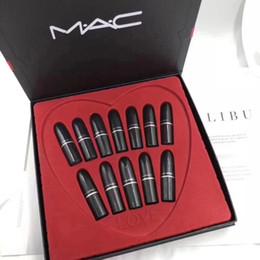 lápiz labial halo mágico Rebajas Nuevo !! caliente !! Cosmético mate lápiz labial maquillaje resistente al agua marca de maquillaje profesional 12 colores lápiz labial conjunto DHL libre