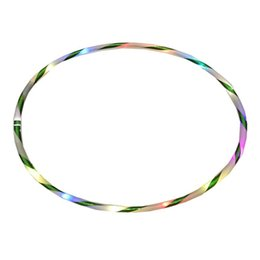 Красочные массы онлайн-Cool 24-LED Colorful Light 90CM Flashing Hula Fitness Hoop Sports Lose Weight Tool