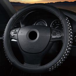 Универсальный 37 / 38см крышка рулевого колеса автомобиля искусственная кожа + льняная оплетка нескользящей дышащий заводской магазин + быстрая доставка от