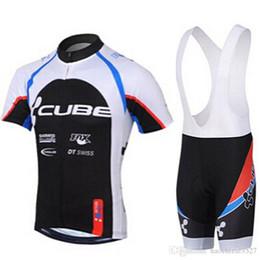 Pullover di cubo online-2019 New CUBE Team Estate Abbigliamento da ciclismo Manica corta Mountain Bike Jersey Racing Abbigliamento da ciclismo Ciclismo Jersey Pantaloncini Set