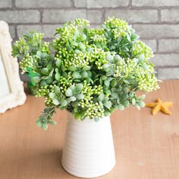 7 branches vertes artificielles baies fleurs bouquet de fruits artificiels plantes mini feuille extérieur salon de mariage décoration ? partir de fabricateur