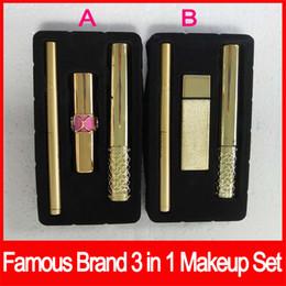 Batons de marca on-line-Popular Lip Eyes maquiagem conjuntos de maquiagem da marca Kollection matte batom olho rímel batom kit de cosméticos com caixa de 2 tipos