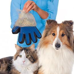 katze hand pinsel Rabatt Tierhaarentfernungshandschuhe Katzen Hunde Reinigungsmassage Silikon Badehandschuhe Pinsel Tierhaarentfernungsbürste für die linke und rechte Hand BH0271 TQQ